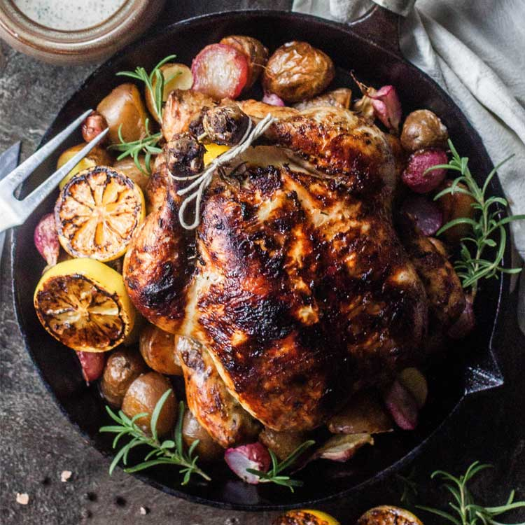 lemon and rosemary charcoal chicken